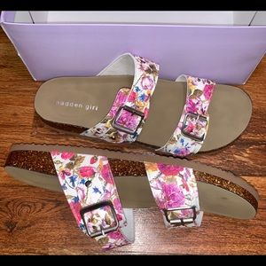 💐 NWT Madden Girl Brando Floral Slide Sandals 💐
